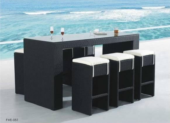 Стол барный с барными табуретами FWE-051 - Мебельресторан